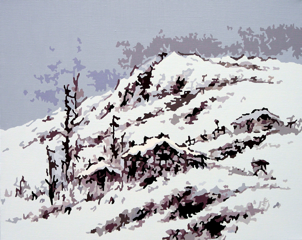 雪景,oil on canvas, 72.4x90.8cm, 2007.jpg