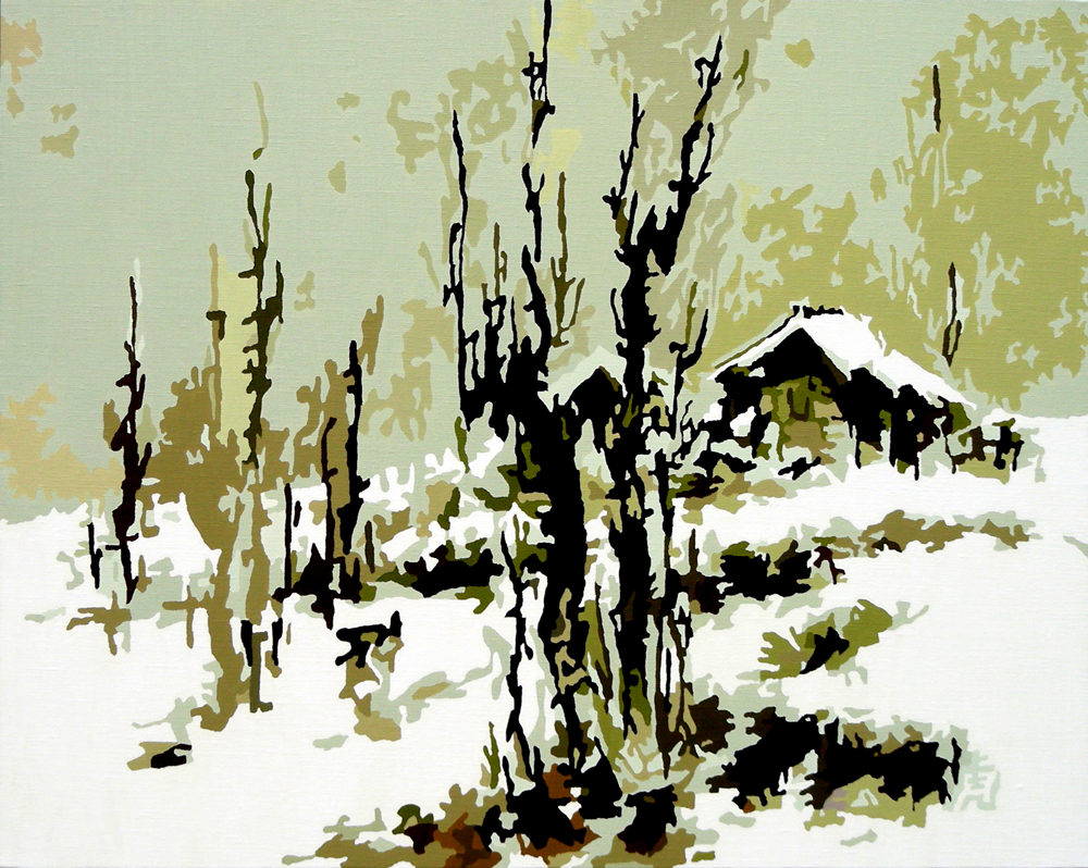 雪景, oil on canvas, 72.5x90.7cm, 2007.jpg
