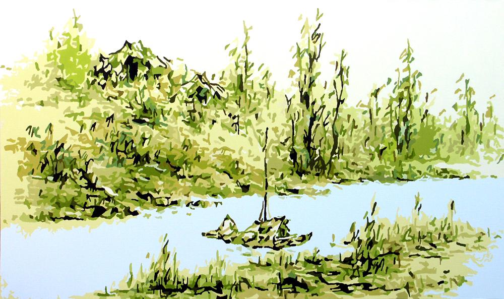 夏景山水, 2007, oil on canvas, 97.2 x 162cm.jpg